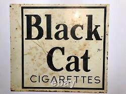 Vintage Metal Sign Black Cat Cigarettes (double Face). 3