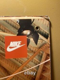 Vintage Michael Jordan Nike Air Rare Signe Publicitaire À Double Face Des Années 1980