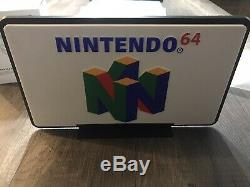 Vintage N64 Store Promotionnel Sign Display Rare N64 Double Face