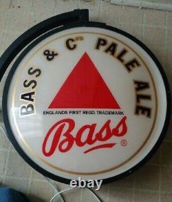 Vintage Nib Basse & Cos Pale Ale Bar Sign Double Sided Light Up Pub Sign
