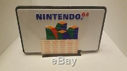 Vintage Nintendo N64 Retail Store Sign Display Rare Double Face Nes Dessous