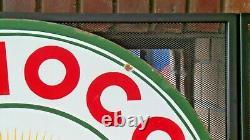 Vintage Original Conoco Essence Avec Ethyl Burst Double-sided 30 Porcelaine Signe