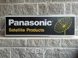 Vintage Panasonic Satellite Light Up Horloge Signe Double Face Radio Vinyle Musique
