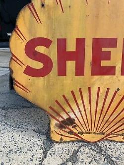 Vintage Porcelain Shell Essence Signe 4 Double Face Mur Original Décor Art