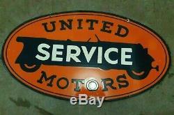 Vintage Porcelaine Service Signe D'origine United Motors Double Face 36