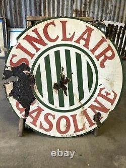 Vintage Porcelaine Sinclair Essence Double Panneau Latéral Original 24