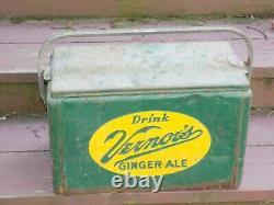 Vintage Rare Vernors Ginger Ale Cooler Panneau Double Face