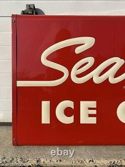 Vintage Sealtest Ice Cream Sign Double Sided Farm Kitchen Wall Decor