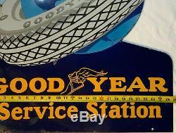 Vintage Service En Porcelaine De Goodyear 1930 Station De Double Face Bride Signe