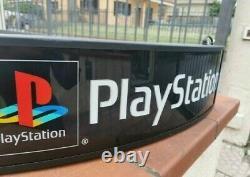 Vintage Sony Playstation Lumière Enseigne Magasin Affichage Double Face Travail Rare