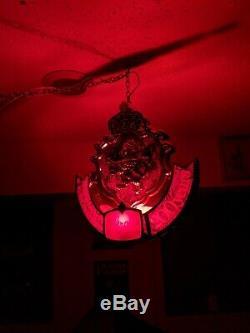 Vintage Strohs Bière Rotatif Mouvement Suspendu Lumière Double Face Bar Lighted Connexion