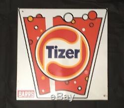 Vintage Tizer Métal Double Face Publicité Connexion Environ 38 CM X 38 CM