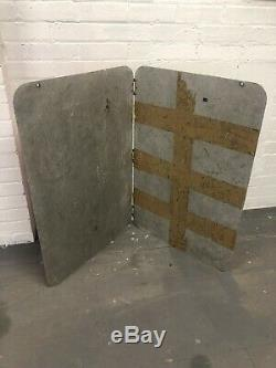 Vintage Ulster Double Face Udr Arrêtez Checkpoint Lights Off Rare Signe Militaire