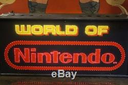 Vintage World Of Nintendo Fiber Optic Sign 100% Double Face