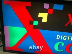 Vintage Xerox Digital Color Dual Side Suspension Light Up Sign Advertising Rare