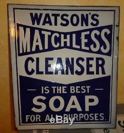 Watsons Matchless Soap Sign Vintage Chaise Double Face