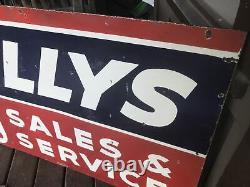 Willys Jeep Sales And Service Double Sided Porcelain Sign