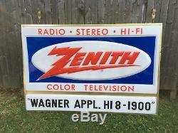 Zenith Vintage Tv Couleur Radio Télévision Salut Fi Stereo Lighted Double Face Connexion